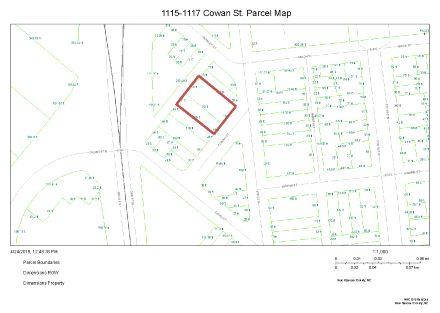 1115-1117 Cowan St Tax Parcel Map