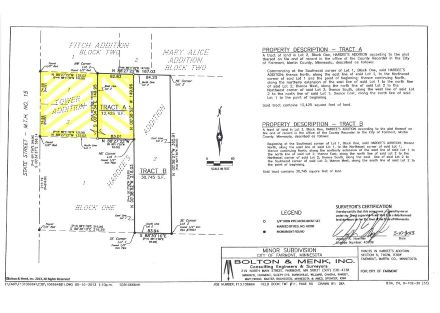 Survey - Tower Add and Tract A