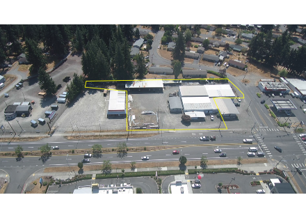 Aerial - Contractor Yard with Office & Warehouse