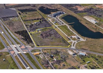 Aerial Photo (West Outlined) - 13.276 Acres on S University Parks Dr (3-11-19)