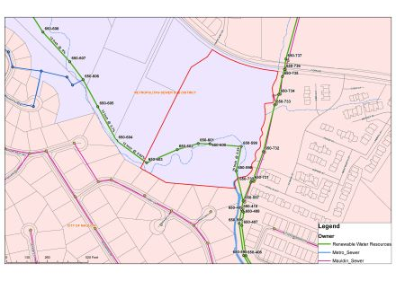 Water_Sewer Lines Map