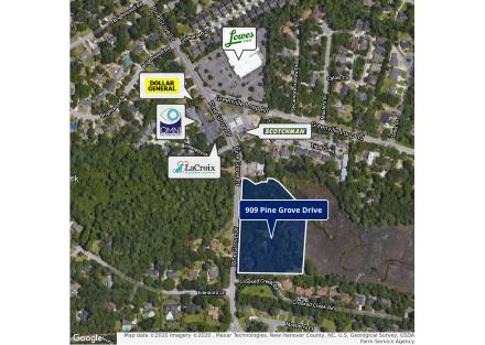 909 Pine Grove Retail Aerial