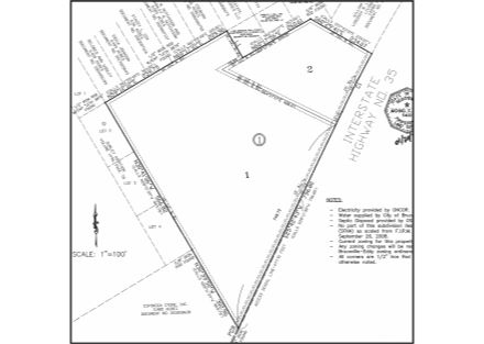 Plat (Excerpt) - 8.173 Acres on IH-35 (January 2020)