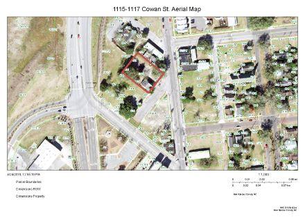 1115-1117 Cowan St Aerial Map