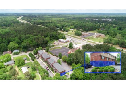 Property Aerial with highlighted Available Units