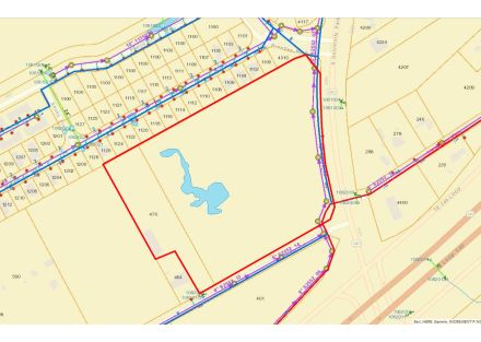 Map (Utilities) - 13.276 Acres on S University Parks Dr (3-8-19)