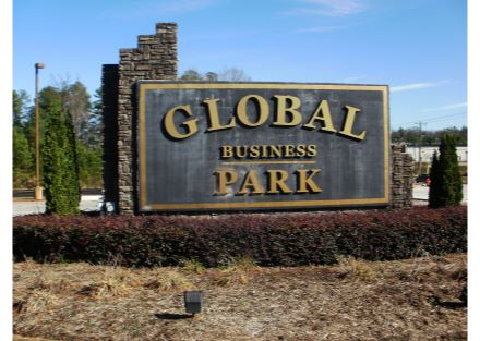Global Park Entrance Sign