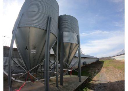 Dual feed bins on each house