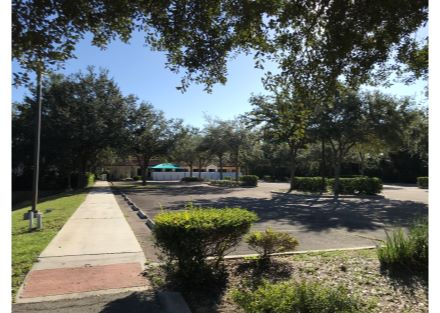 Parking lot view back to front