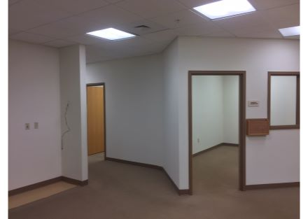 Hallway with Exam Rooms & Office