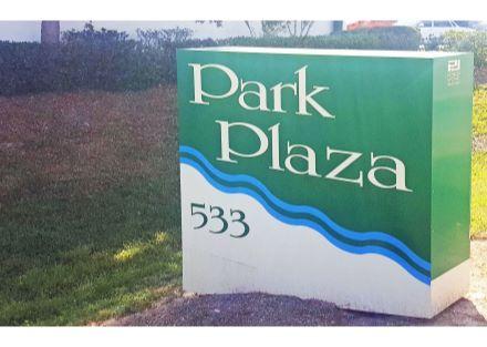 Park Plaza sign