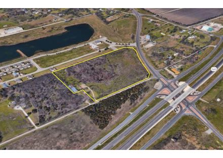 Aerial Photo (North Outlined) - 13.276 Acres on S University Parks Dr (3-11-19)