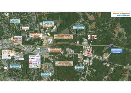 Massaponax Crossroads Aerial Proximity Map wHousing